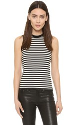 R 13 Baby Muscle Tee Black White Stripe