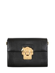 Dolce And Gabbana Lucia Embossed Leather Top Handle Bag