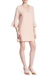 Charles Henry Bell Sleeve Shift Dress Pink