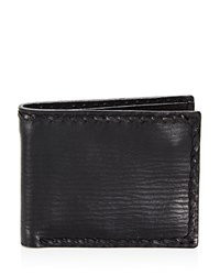 John Varvatos Star Usa Braided Edge Slim Folding Wallet Black