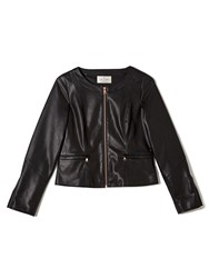 Precis Petite Jeff Banks Faux Leather Jacket Black