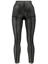 Ann Demeulemeester Footless Solid Stripe Tights Black