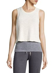 Monrow Double Layer Tank Top Natural