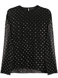 Pinko Polka Dot Sheer Blouse 60