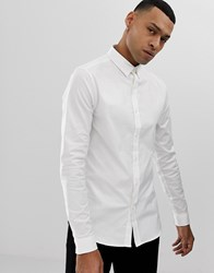 New Look Oxford Shirt In Muscle Fit In White