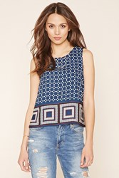 Forever 21 Contemporary Geo Print Top
