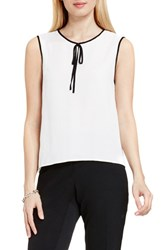 Vince Camuto Women's Tie Neck Sleeveless Blouse New Ivory