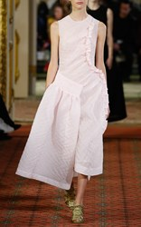 Simone Rocha Pink Asymmetrical Cloque Dress