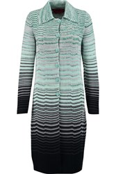 Missoni Crochet Knit Wool Cardigan Green