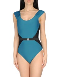 Mouille' One Piece Swimsuits Deep Jade