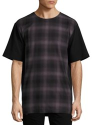 Helmut Lang Plaid Front T Shirt Multi