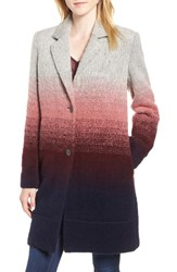 Andrew Marc New York Ombre Two Button Car Coat Grey Combo