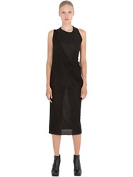 Rick Owens Draped Bamboo Jersey Dress