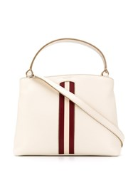 Bally Signature Stripe Tote Bag Neutrals