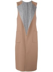 Tagliatore Sleeveless Mid Coat Nude Neutrals
