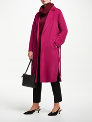 John Lewis Double Faced Revere Collar Coat Raspberry Pink