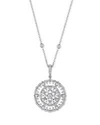 18K White Gold Round Diamond Garland Pendant Necklace Penny Preville Red