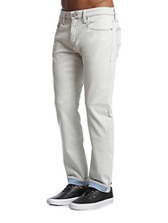 34 Heritage Jake Straight Fit Solid Jeans Light Grey