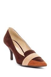 Ann Marino By Bette Muller Adina Kitten Heel Brown