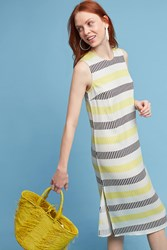 Anthropologie Jane Midi Dress Chartreuse