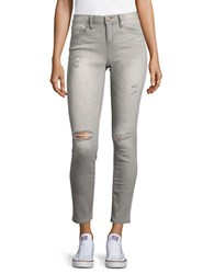 Design Lab Lord And Taylor Distressed Skinny Jeans Charcoal