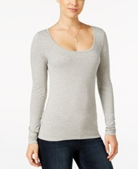 Energie Juniors' Judy Scoop Neck Tee Light Heather Grey