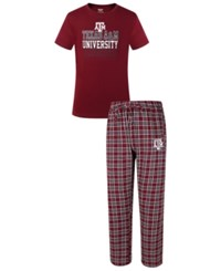Concepts Sport Men's Texas A And M Aggies Medalist Sleep Set Maroon Gray