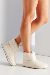 Urban Outfitters Nylon Bootie Slipper Pearl