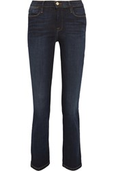 Frame Le High Cropped Slim Leg Jeans Dark Denim