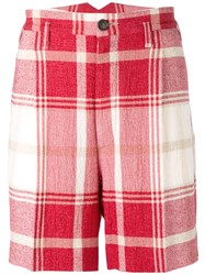 Vivienne Westwood Man Checked Shorts Red