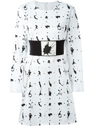 Maison Martin Margiela Mm6 Maison Margiela Belted Paint Splatter Dress White