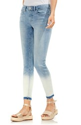 Vince Camuto Ombre Release Hem Skinny Ankle Jeans Sun Wash Blue