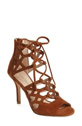 Pelle Moda Women's 'Eva' Ghillie Lace Sandal Cognac Leather