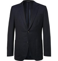 Richard James Navy Hyde Slim Fit Wool Hopsack Blazer