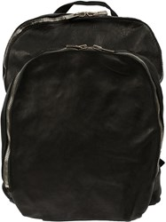 Guidi Zipped Backpack Black