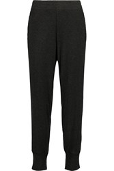 Lna Madison Ribbed Stretch Knit Tapered Pants Gray