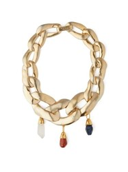 Marni Stone Embellished Chain Necklace Gold