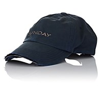 Vetements Sunday Weekday Cotton Cap Navy