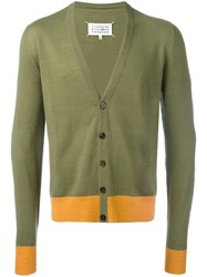 Maison Martin Margiela Elbow Patch Cardigan Green