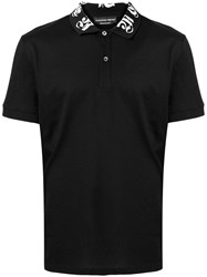 Alexander Mcqueen Logo Collar Polo Shirt Black