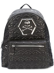 Philipp Plein Quilted Backpack Men Leather One Size Black