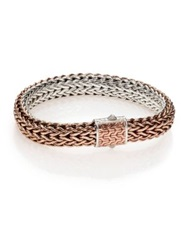 John Hardy Classic Bronze And Silver Reversible Chain Bracelet Bronze Silver