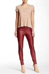 Muubaa Rica Stretch Leather Trousers Red