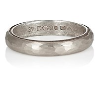 Malcolm Betts Women's Hammered Silver Band No Color