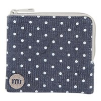 Mi Pac Denim Spot Coin Holder Indigo White