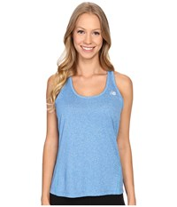 New Balance Heathered Jersey Tank Top Sonar Heather Women's Sleeveless Blue