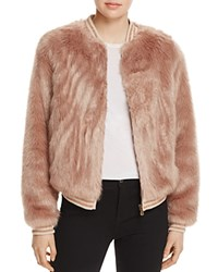 Mother The Letterman Faux Fur Bomber Jacket Stroke Of Fortune