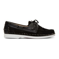 Christian Louboutin Black Steckel Loafers