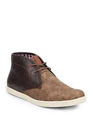 Ben Sherman Victor Two Tone Leather Chukka Boots Light Brown