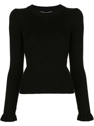 Milly Ribbed Knit Ruffle Trim Jumper 60